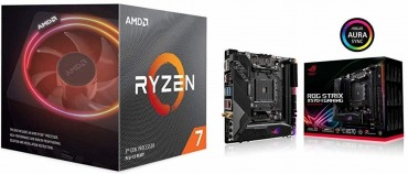 AMD Ryzen 7 3700X with Wraith Prism cooler 100-100000071BOX + ASUS AMD AM4 搭載 マザーボード ROG STRIX X570-I GAMING【mini-ITX】