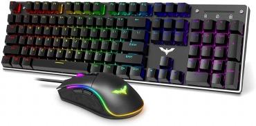 HAVITメカニカル ゲーミングキーボード 虹色バックライト