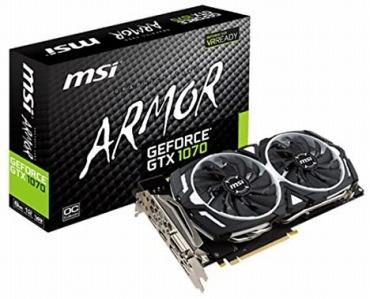 MSI GeForce GTX 1070 ARMOR 2X デュアルファン搭載
