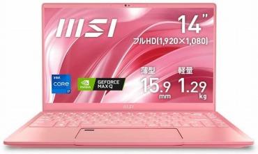 MSI ノートパソコン ピンク