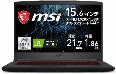 MSIゲーミングノートPC GF65 144Hz RTX3060