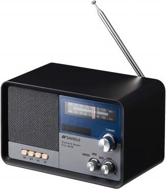 サンスイ Bluetoothスピーカー AM/FMラジオ付き