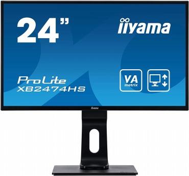 iiyama 24インチ(23.6型) モニター 昇降 XB2474HS-B2