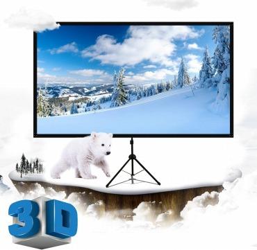 プロジェクタースクリーン自立式 80インチ LiBatterスクリーン