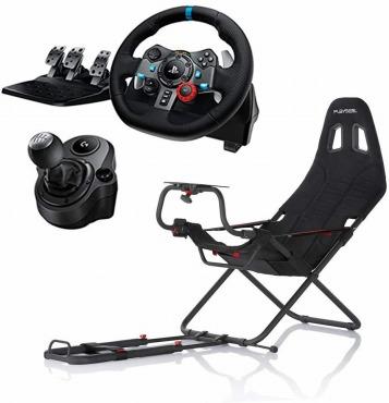 Logitech G29 Racing Wheel + Shifter + Playseat Challenge プレイシート 3点セット