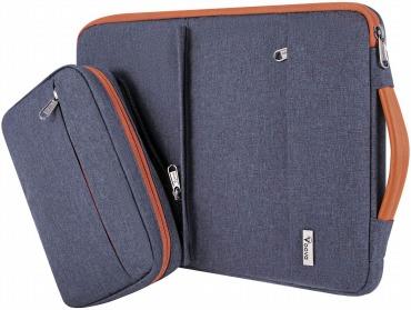 Voova 13-13.5インチ Macbook スリーブケース 衝撃吸収 アクセサリーポーチ付き