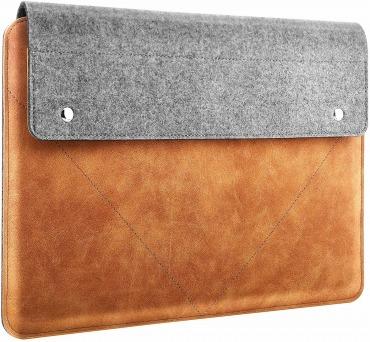 スリーブケース ATiC MacBook Air / Pro 13インチ フェルト+PUレザー