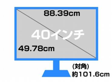 40インチのモニターサイズ