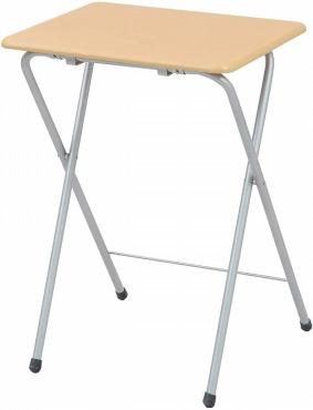 山善 折りたたみ式 サイドテーブル 幅50×奥行48×高さ70cm